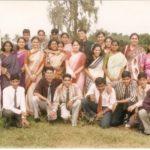 Students posing for Teacher's Day
