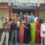 Students posing for Farewell Day