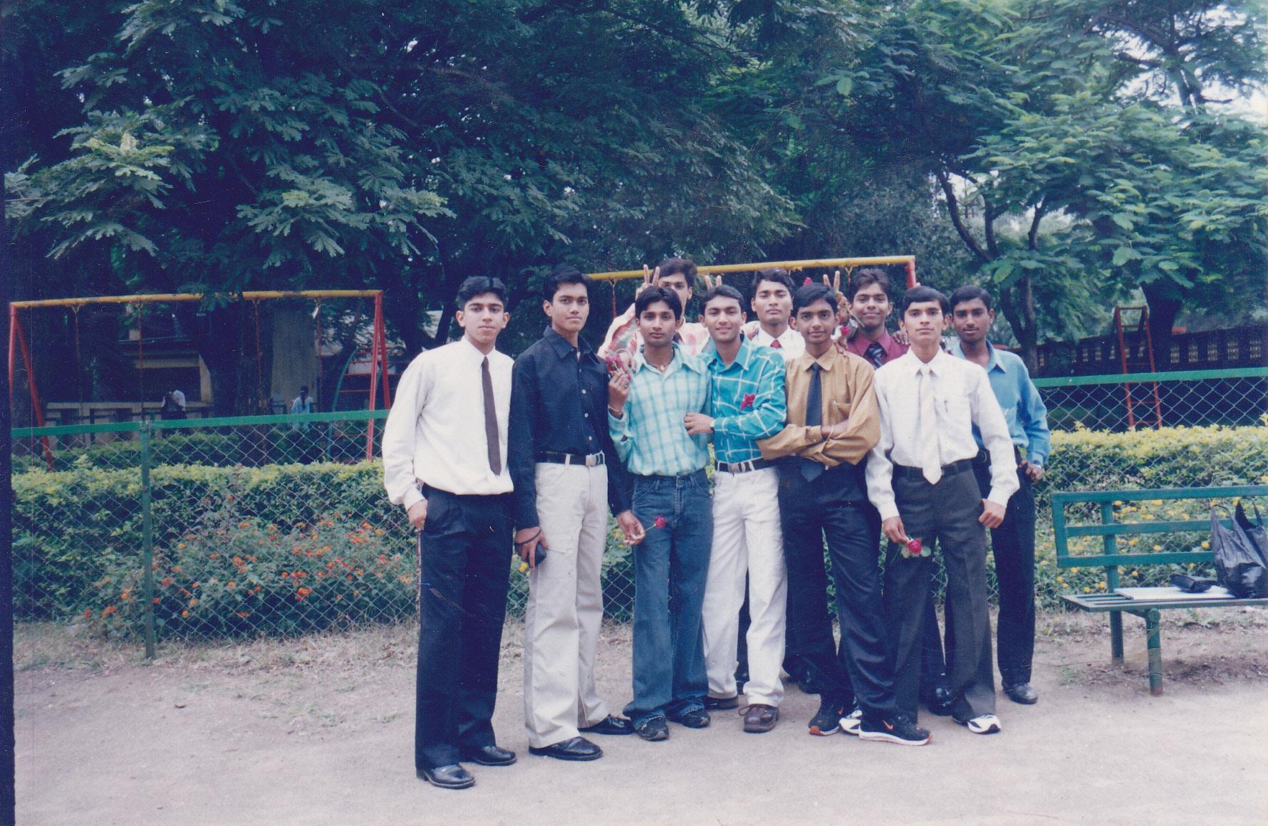 School Boys posing for Teacher's Day