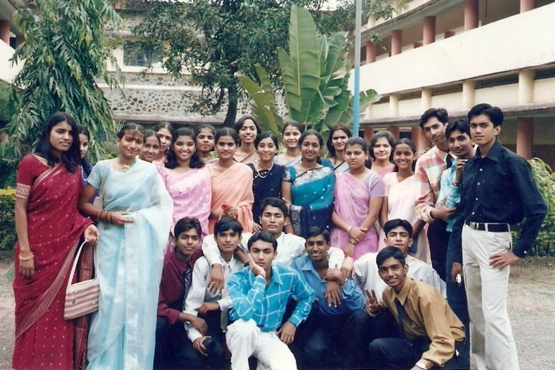 Students posing for Teacher's Day